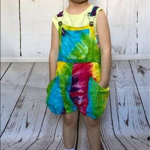 Other - TIE DYE shorts overalls